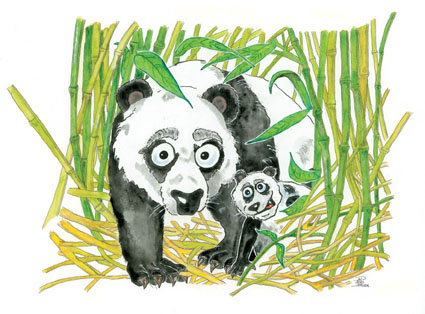 Grosser Pandabaer