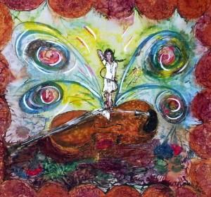 Hygiea:Malerei auf Seide,85x85cm,2009