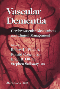 Vascular Dementia (Robert H. Paul). 2005.