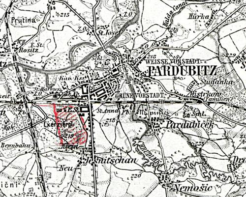 Pardubitz_Karte